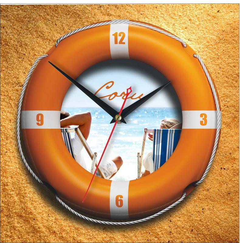"""Настенные часы """"Спасательный круг пляж Сочи"""""""