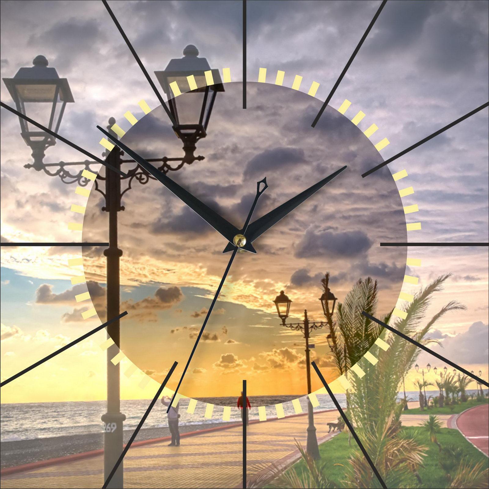 Часы настенные «Набережная Сочи на закате»