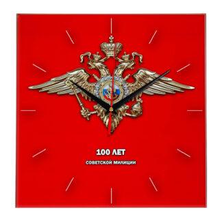 Сувенир — часы «100 лет советской милиции»