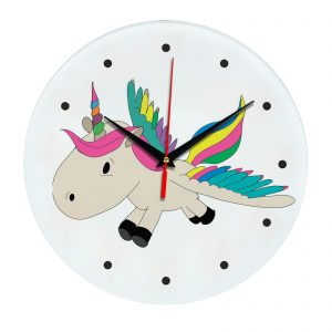 Настенные часы с единорогом 1rog01-clock