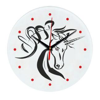 Настенные часы с единорогом 1rog03-clock