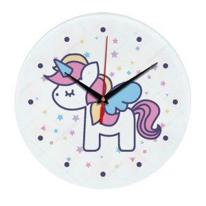 Настенные часы с единорогом 1rog04-clock