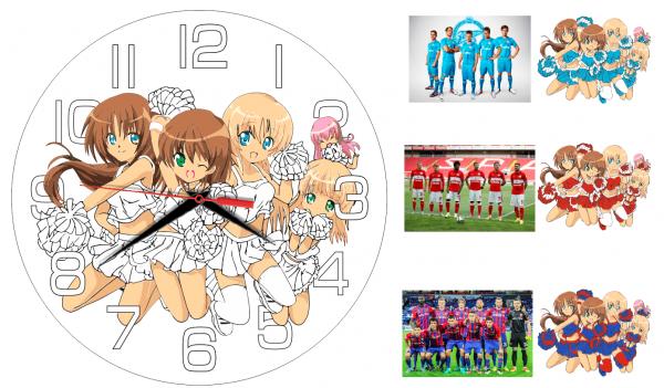 Часы раскраска «Раскрась в цвета любимого клуба»