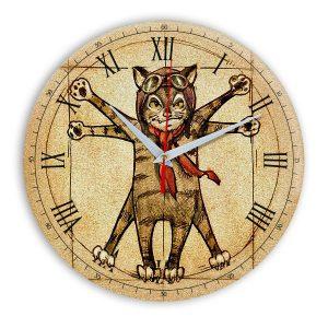 Настенные часы Кот Да Винчи