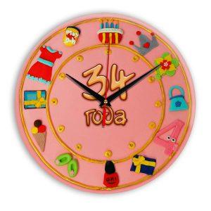 Настенные часы «34-years-old»