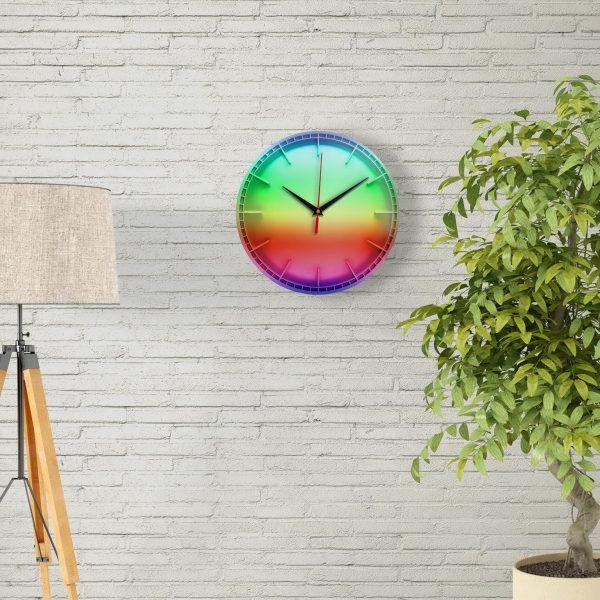 """Настенные часы """"Все цвета радуги"""" для интерьера"""