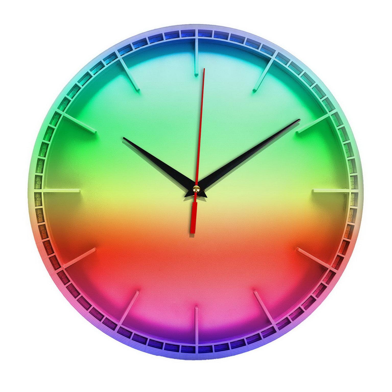 Настенные часы «Все цвета радуги» для интерьера