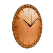 """Интерьерные часы """"Оранжевый диск"""""""