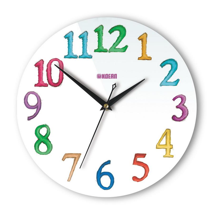 Детские настенные часы с дизайном «Акварель»