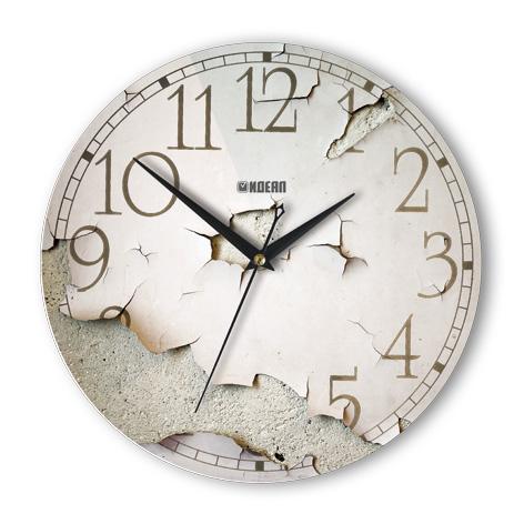 Настенные часы прикол «Отслоение»