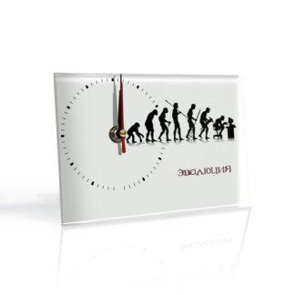 Настольные часы Эволюция ЧБ