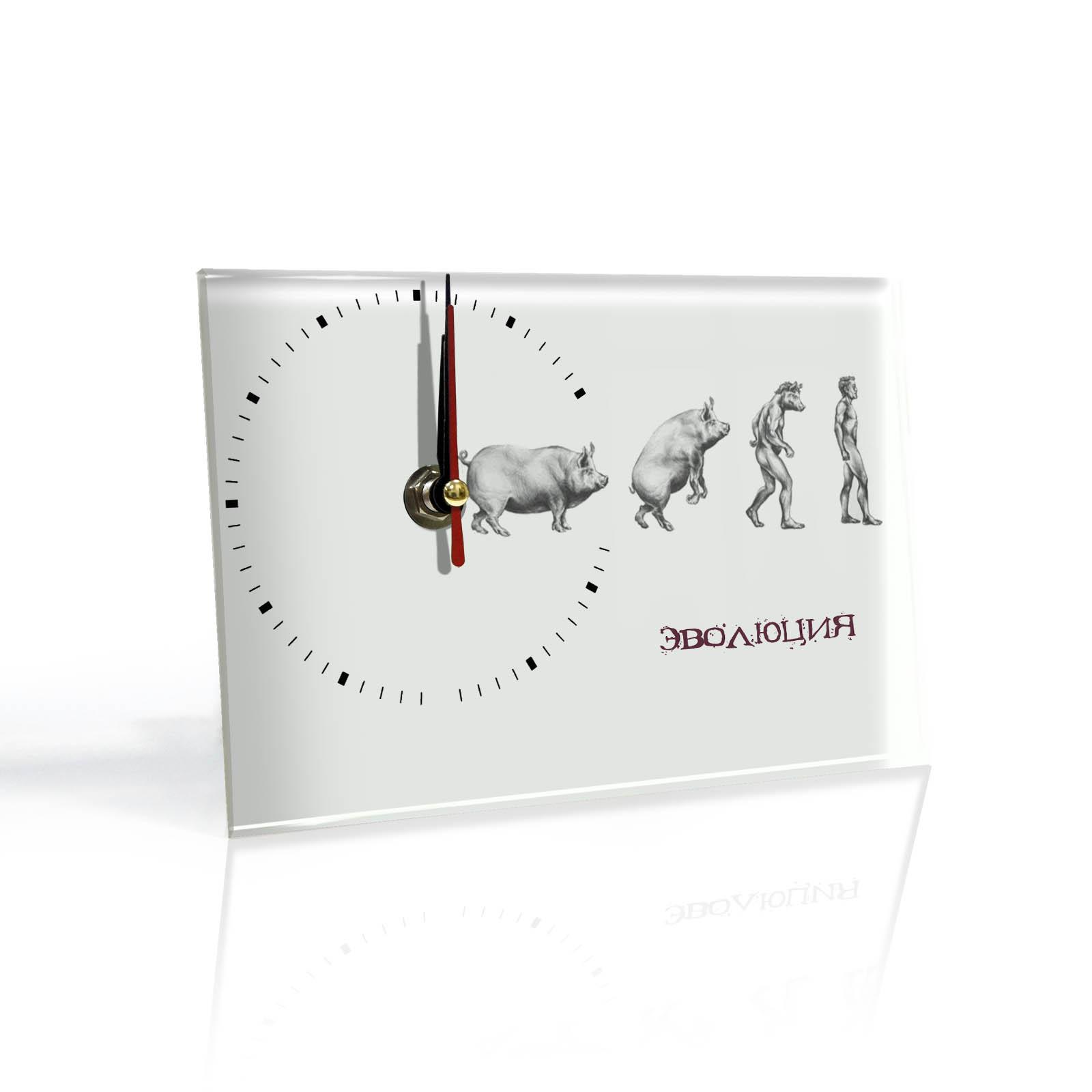 Настольные часы Эволюция парня