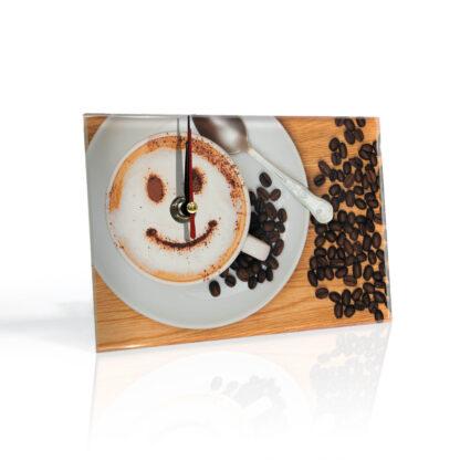 Настольные часы Кофе смайл