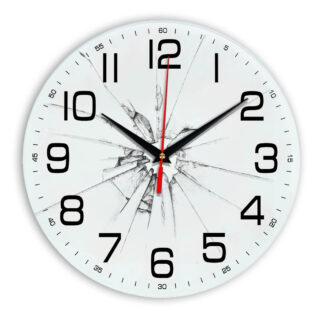 Настенные часы Разбитое стекло