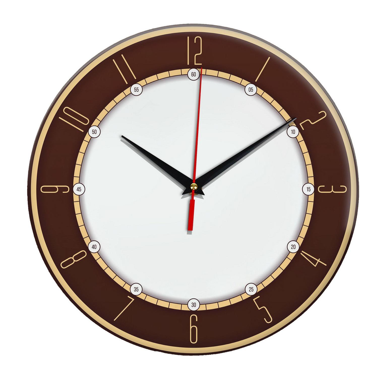 Настенные часы «Коричневый ободок»