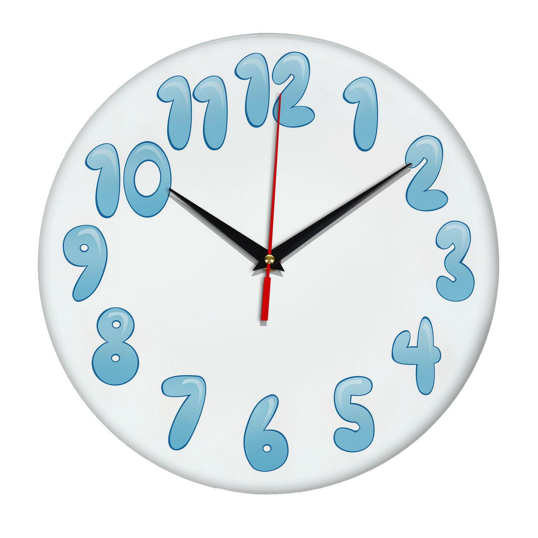 На стену часы «Снежные цифры»