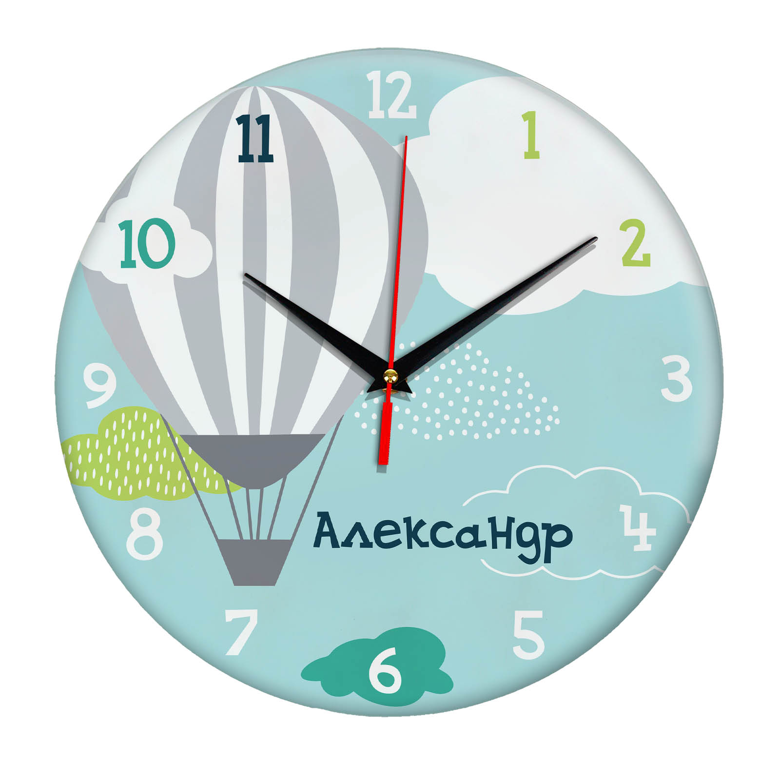 Подарок именной — Настенные часы с именем Александр