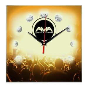 Angels and airwaves настенные часы 12