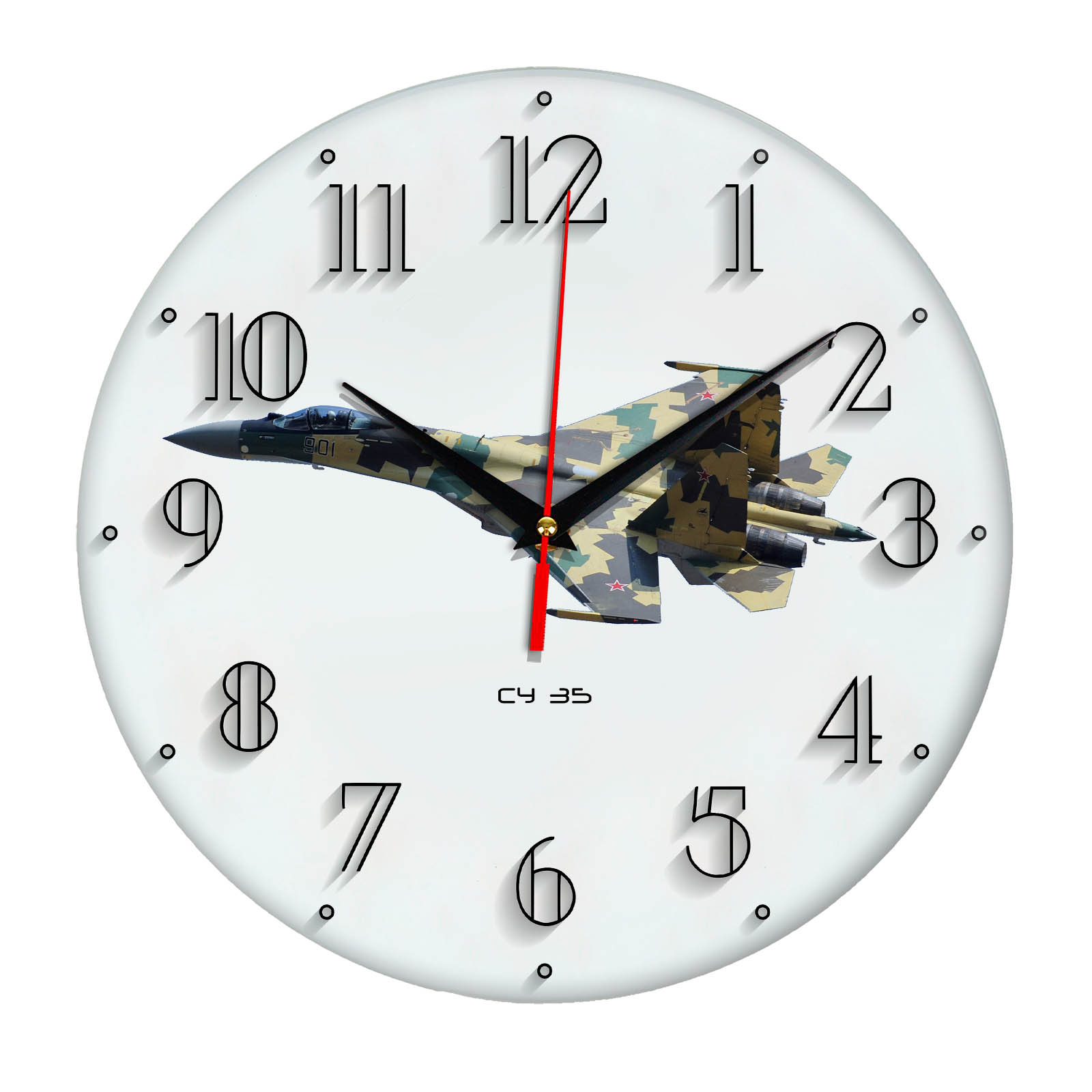 Часы настенные «Армия России Су 35»