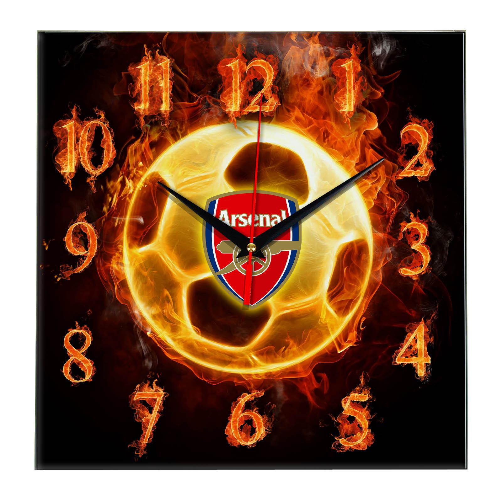 Настенные часы «Огненный футболист ARSENAL»