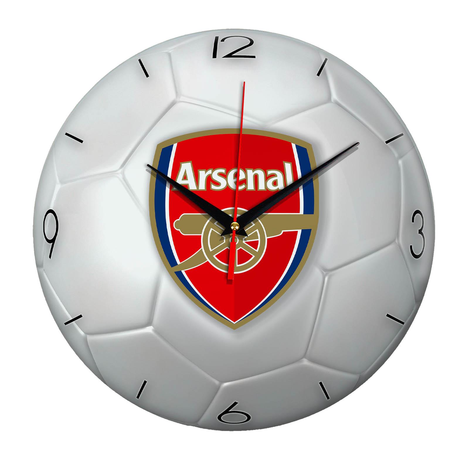 Настенные часы «Футбольный мяч ARSENAL»