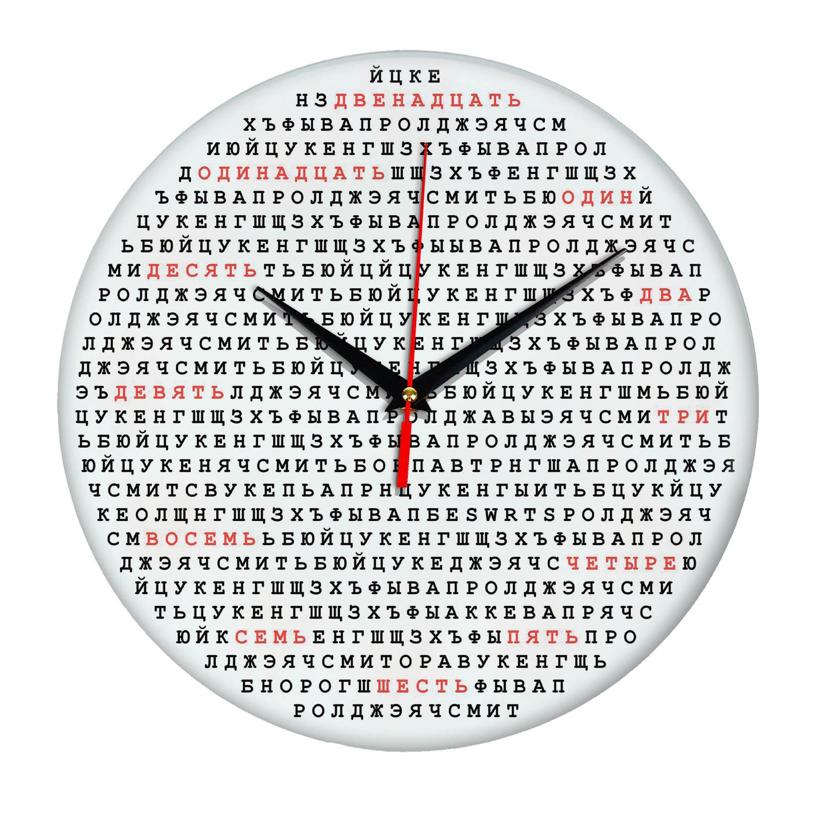 Настенные часы «Шифровка»