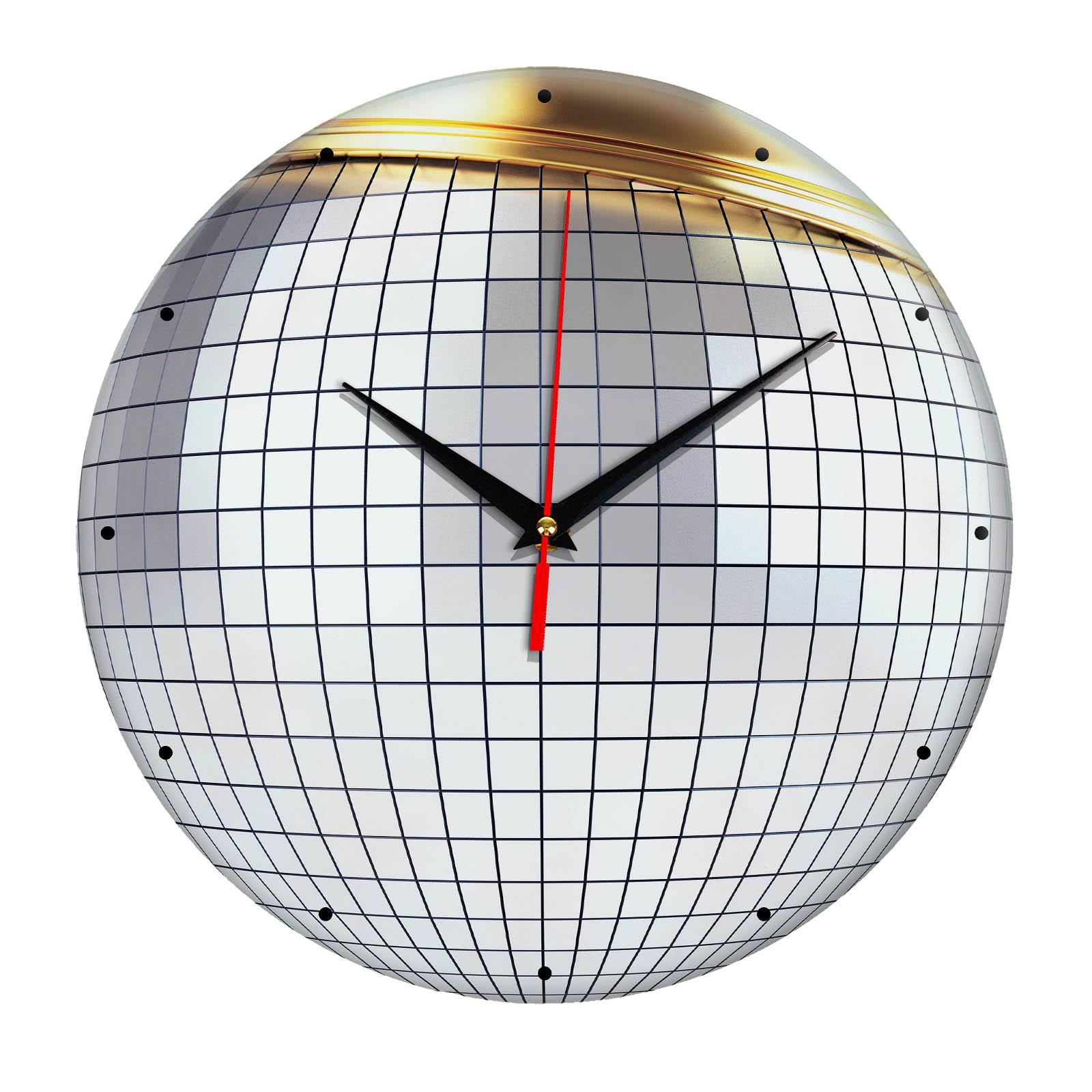 Настенные часы из стекла «Дискобол»