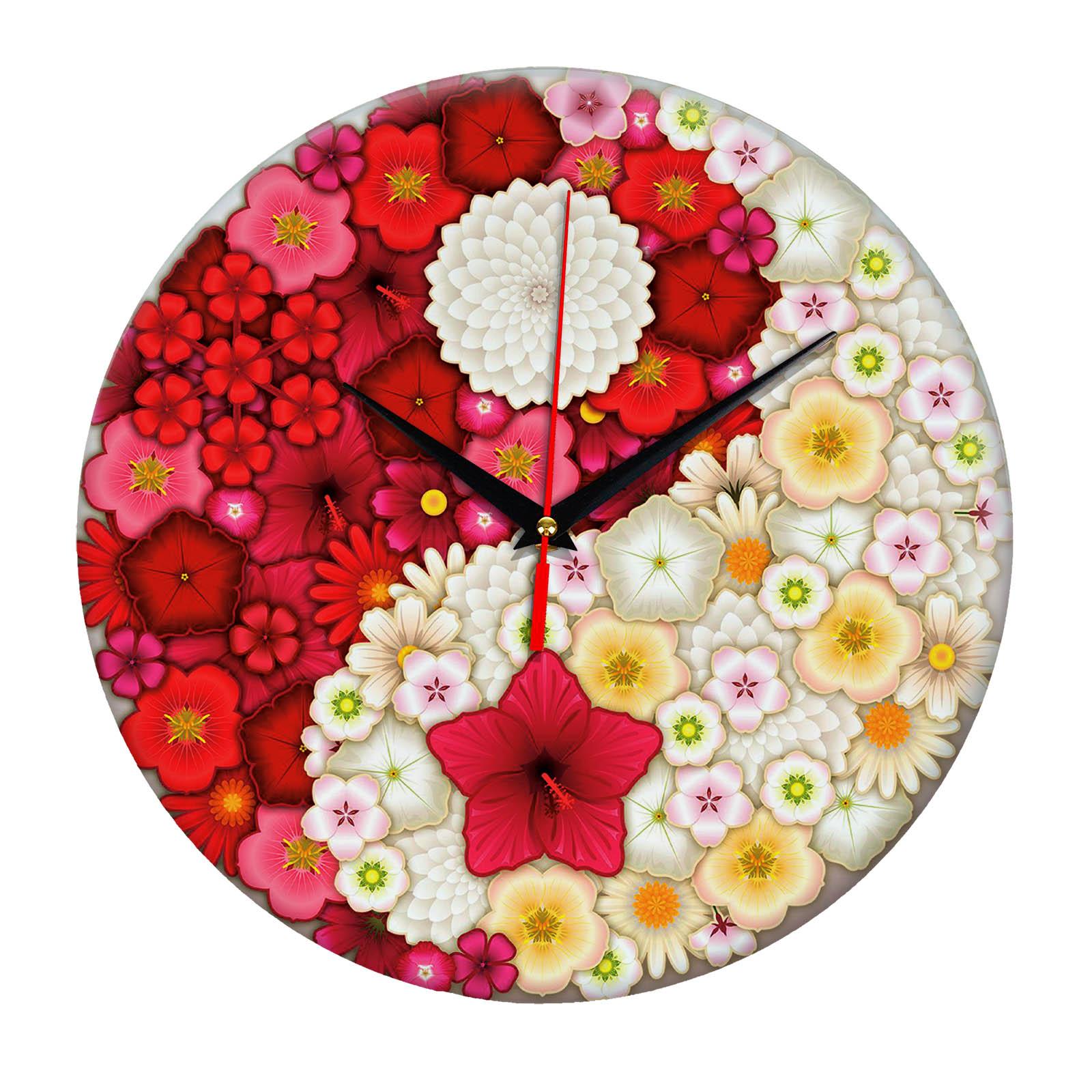 Настенные часы «Инь-Янь Цветы»