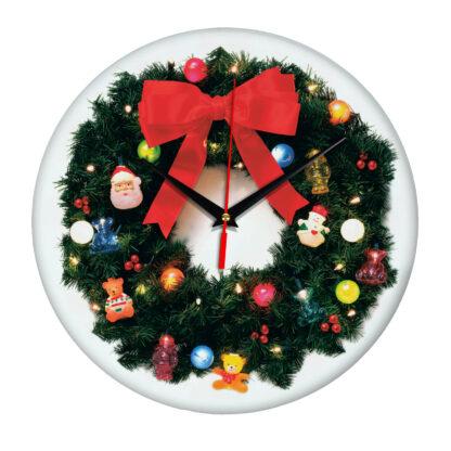 Настенные часы «Новогодний венок»