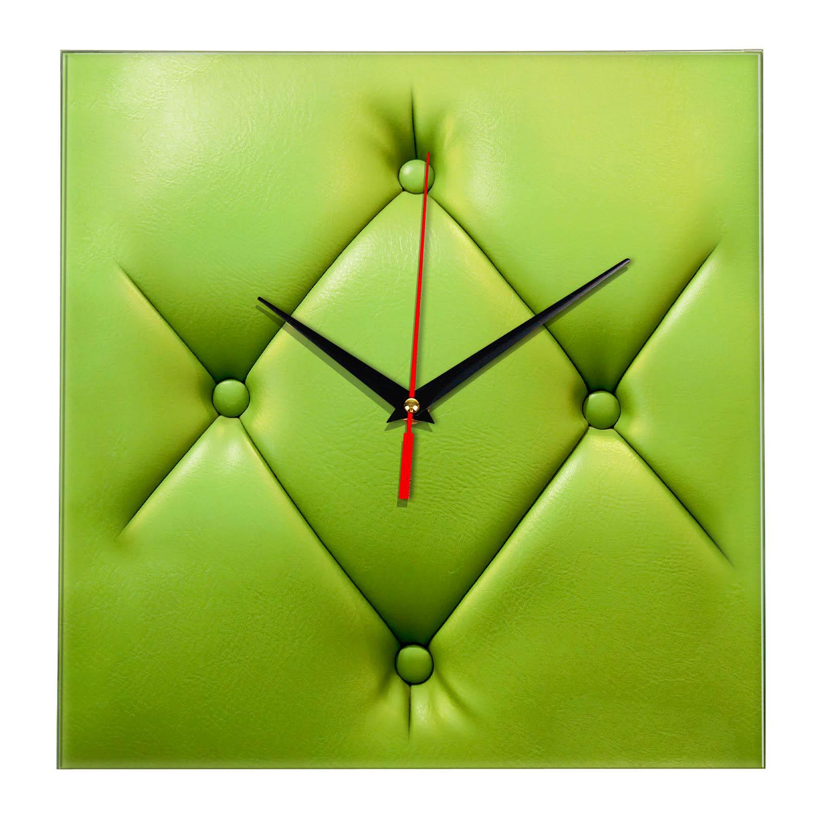 Настенные часы «Пуф зеленый»