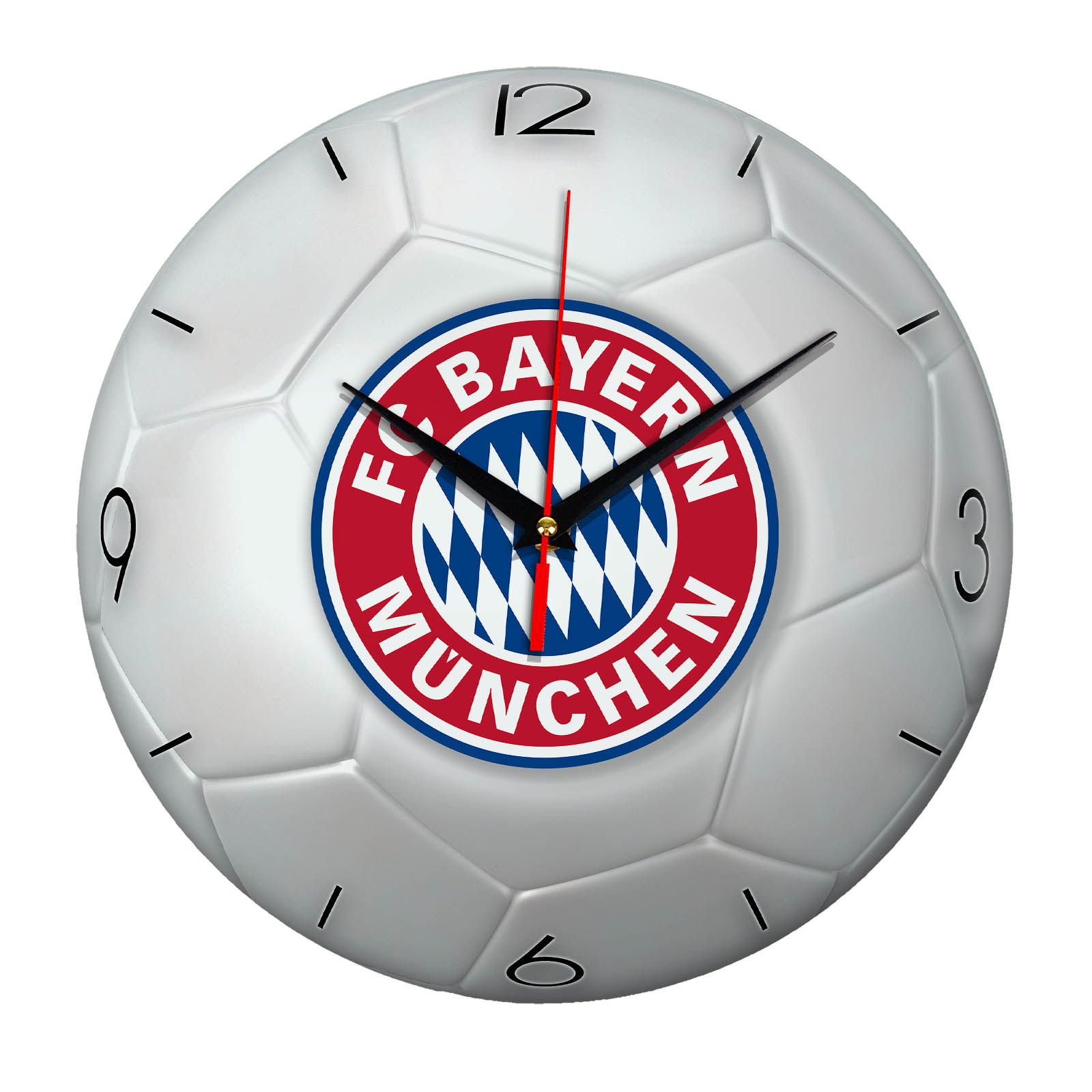 Настенные часы «Футбольный мяч BAYERN MUNCHEN»