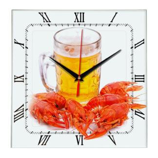 Часы «Кружка пива с раками»
