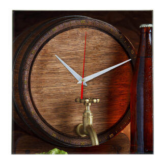 Часы настенные «Бочка пива»