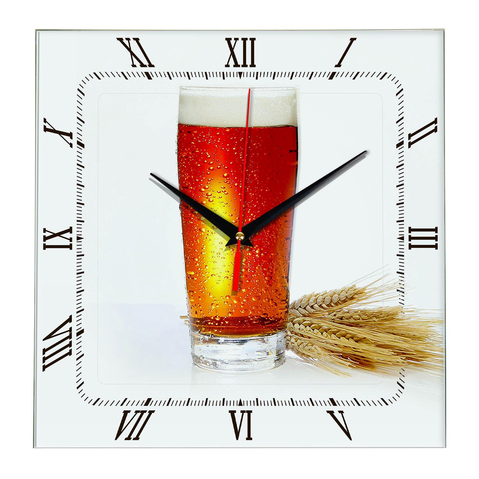 Часы настенные «Пиво и рож»