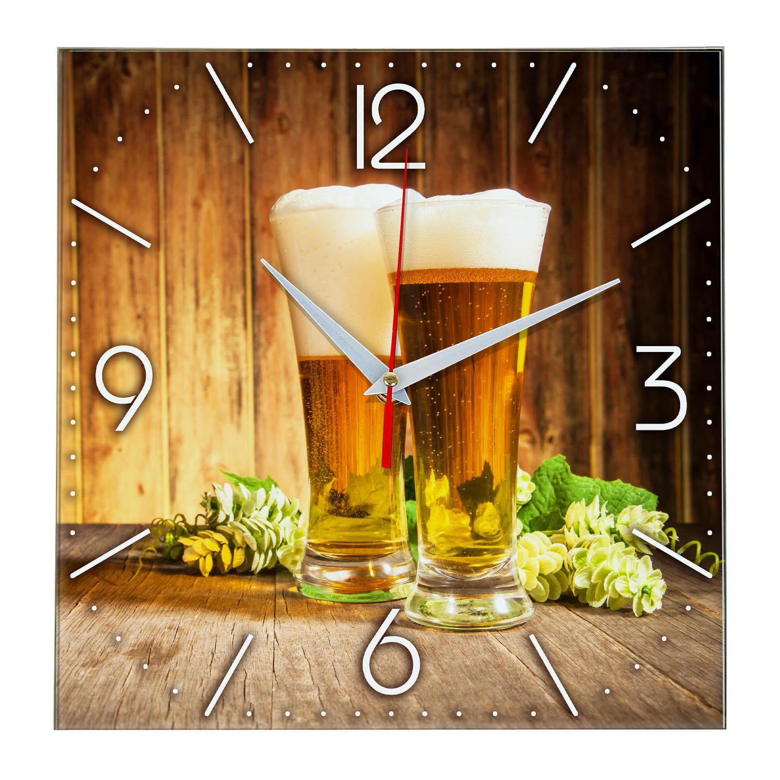 """Настенные часы """"Хмельной напиток"""""""