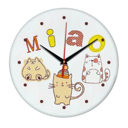 Часы настенные с котиками- Катэ Miao