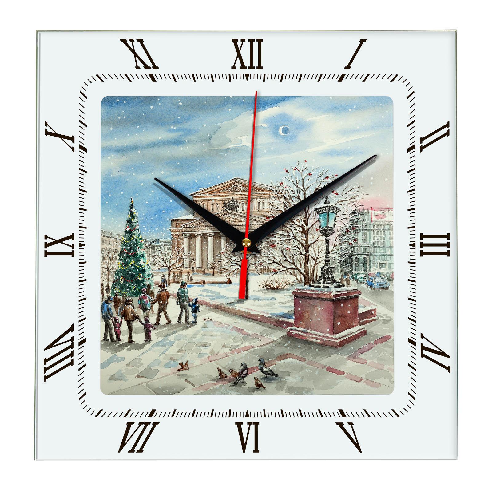 Часы настенные «Москва зимой»