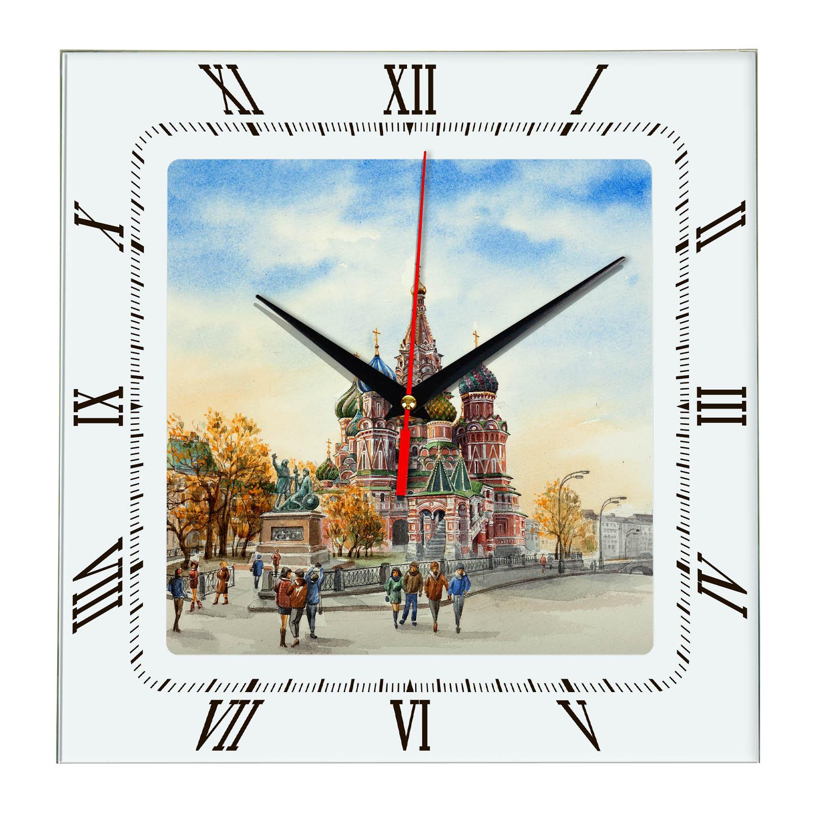 """Настенные часы """"Москва осенью """""""