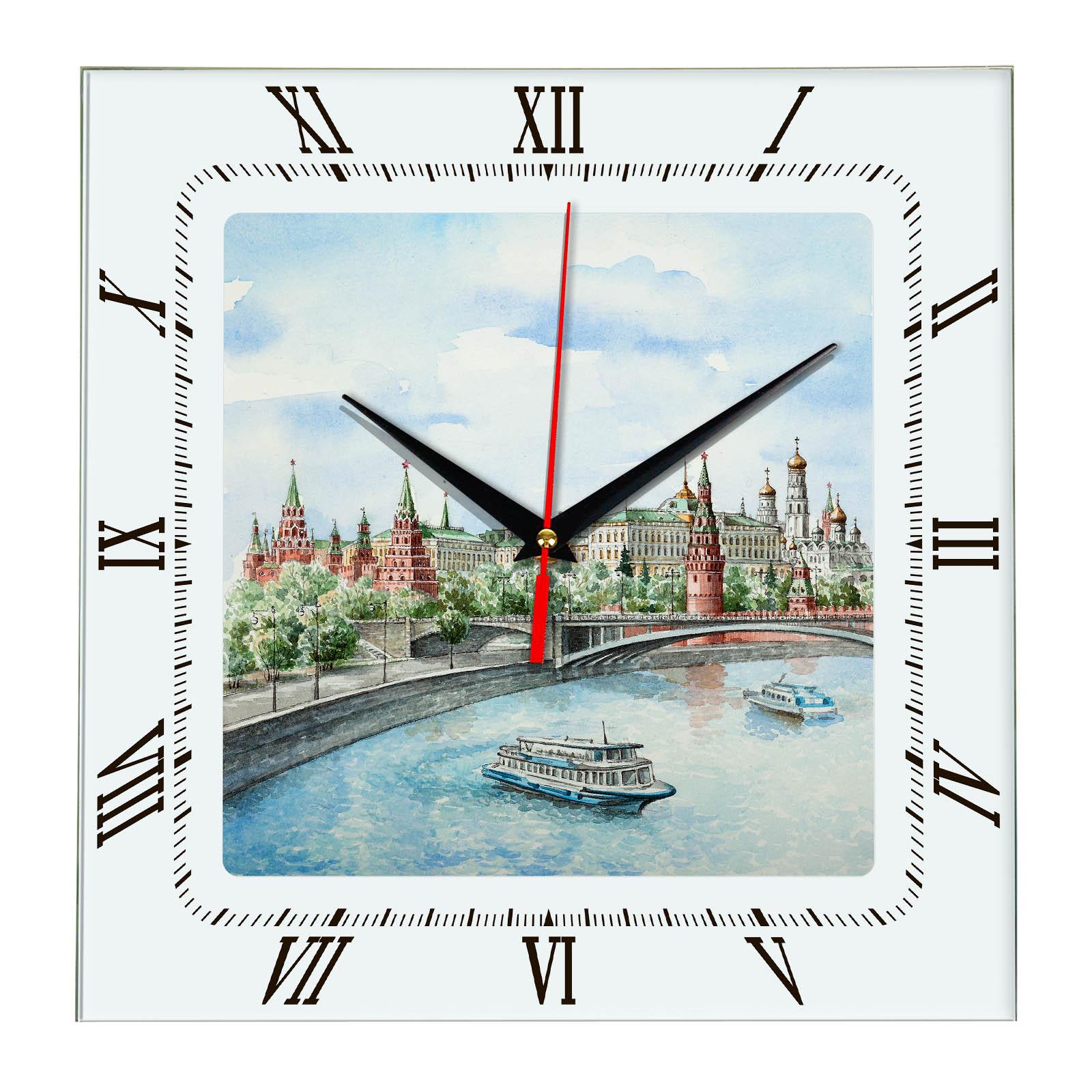 Часы с видами Москвы «Кремлевская набережная»