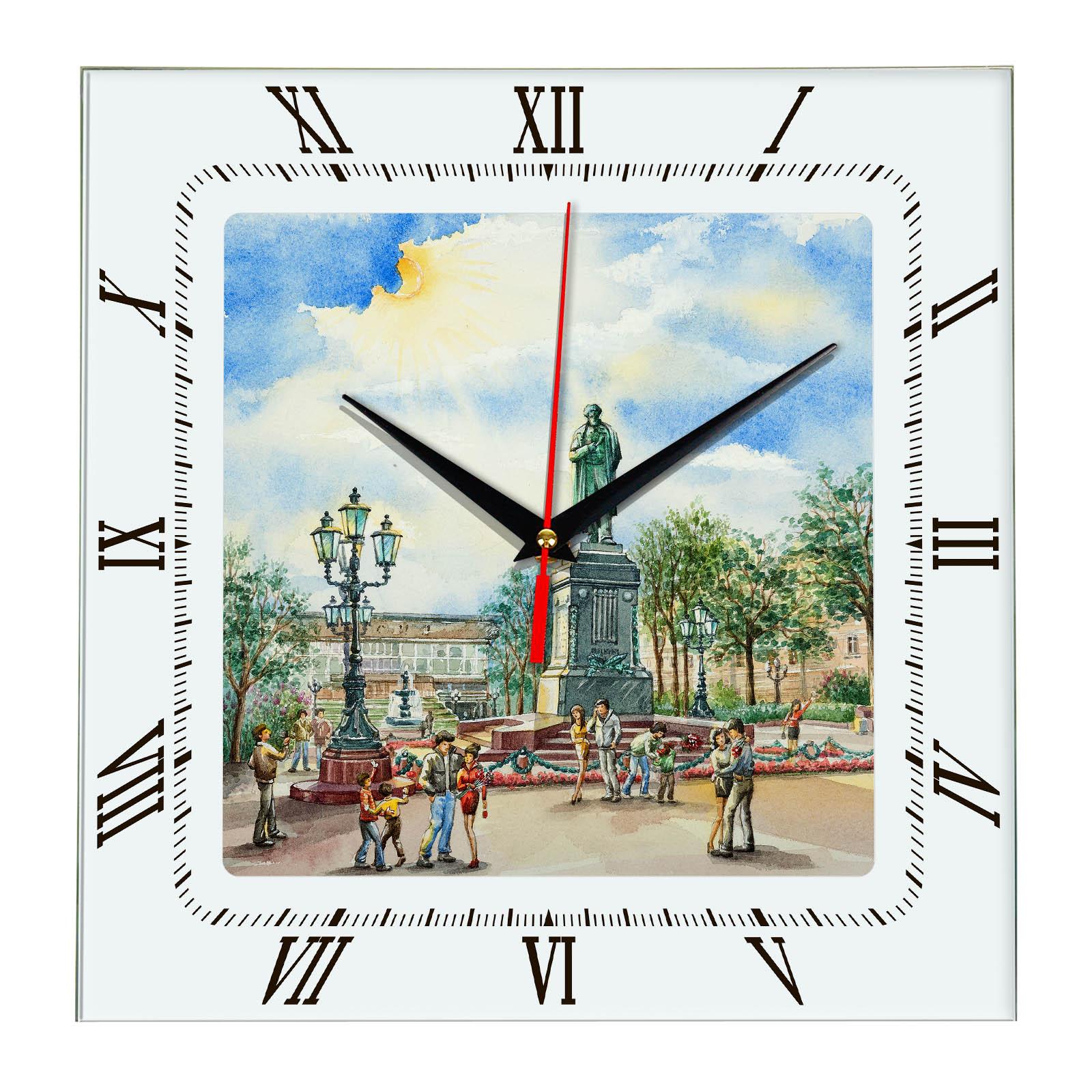 Часы на стену «Московский сквер»
