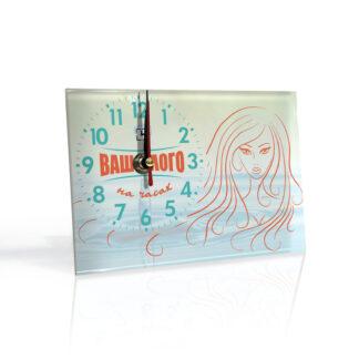 Настольные часы с логотипом «С подставкой»