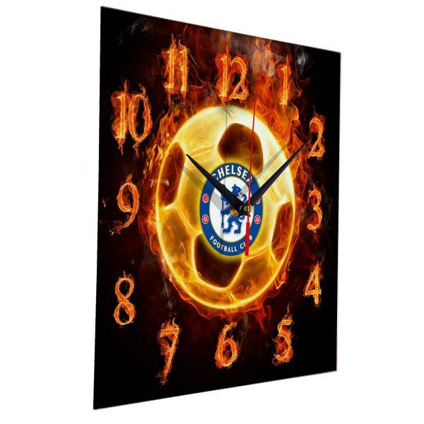 Настенные часы «Огненный футболист CHELSEA»