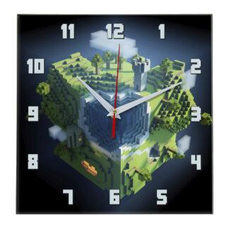 Настенные часы minecraft Кубики