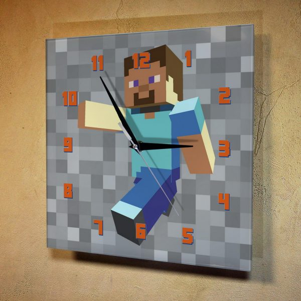 Часы с персонажами minecraft