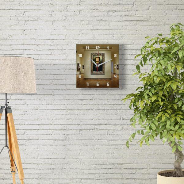 """Настенные часы """"Мона Лиза minecraft"""""""