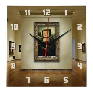Настенные часы «Мона Лиза minecraft»
