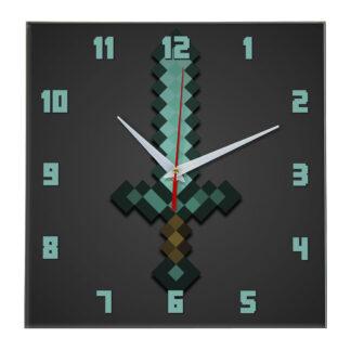 Часы Алмазный меч minecraft