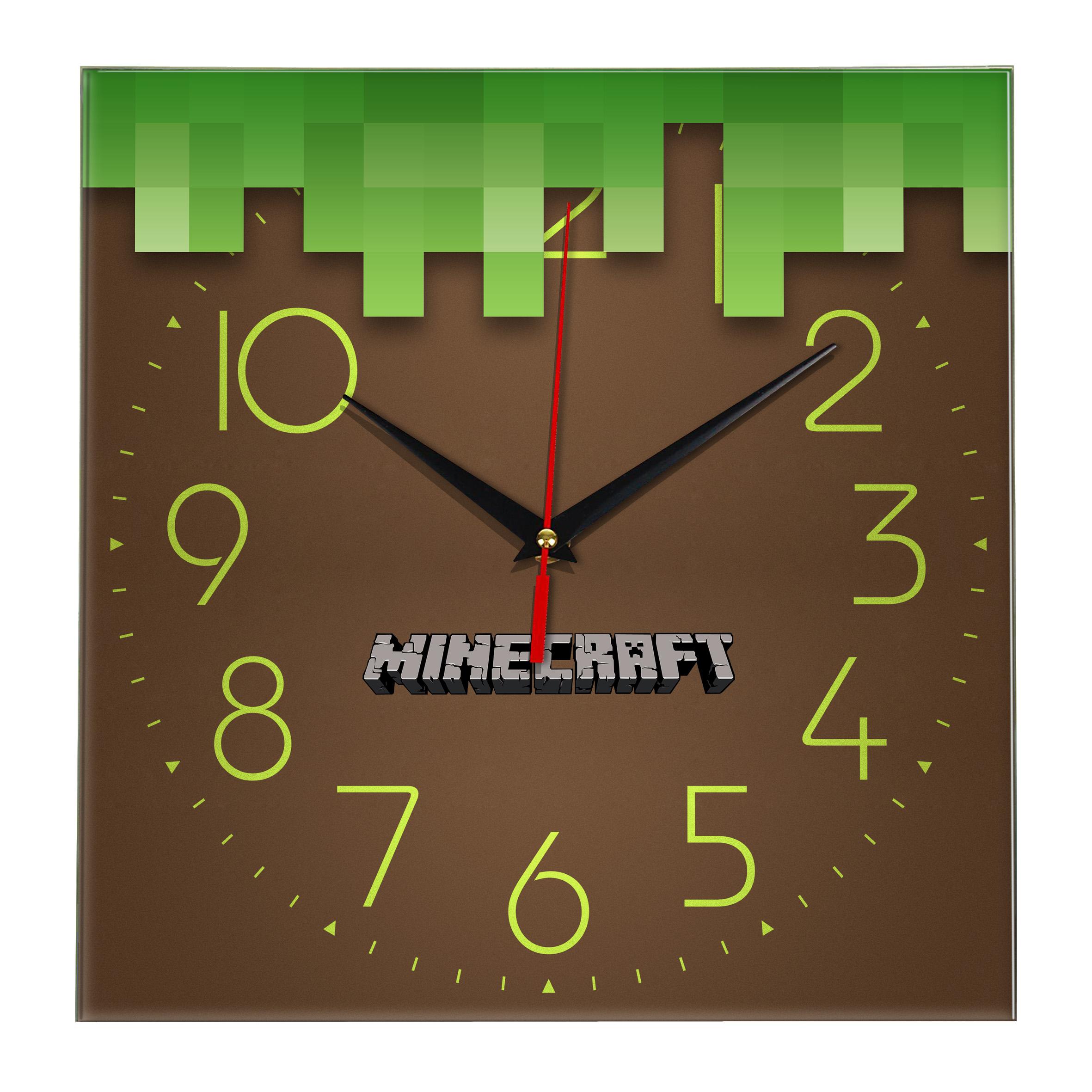 Настенные часы «Игра Майнкрафт»
