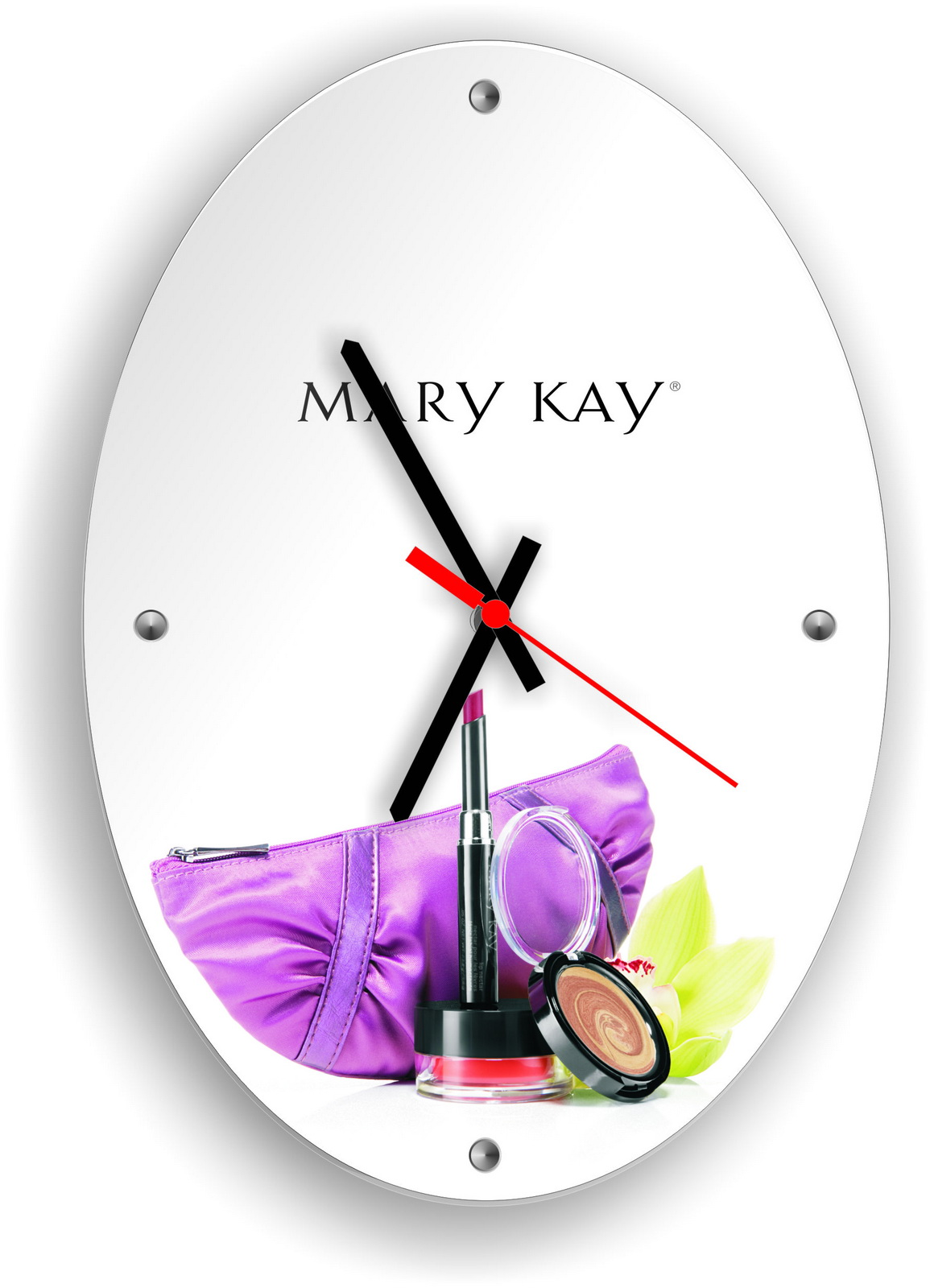 Часы настенные с логотипом Mary Kay