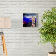"""Настенные часы """"Путин - угроз нет"""""""